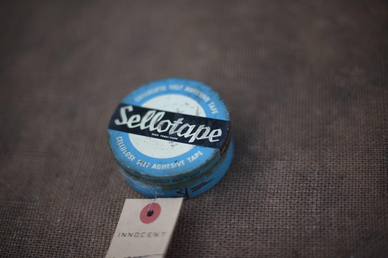 ヴィンテージ Sellotape ヴィンテージ丸缶 101095