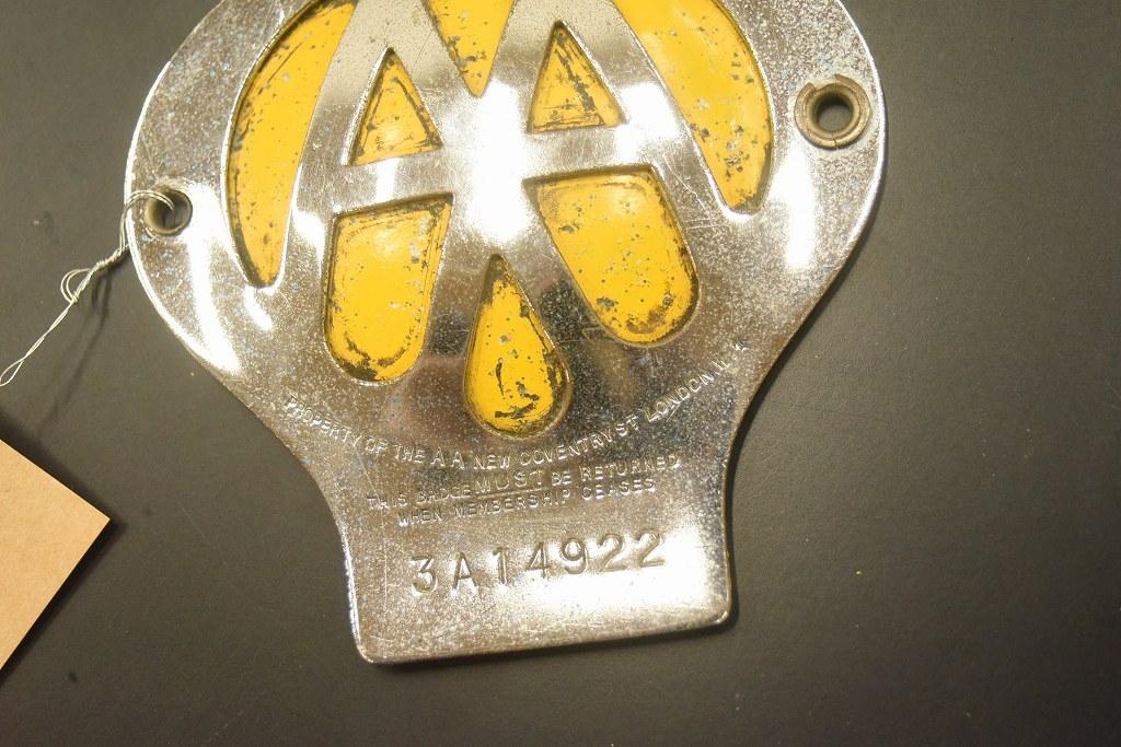 104617 ヴィンテージ AA 「Automobile Association」 カーバッチ エンブレム