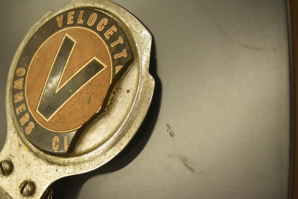 104727 ヴィンテージ  「VELOCETTE OWNERS CLUB」 割有 カーバッチ エンブレム