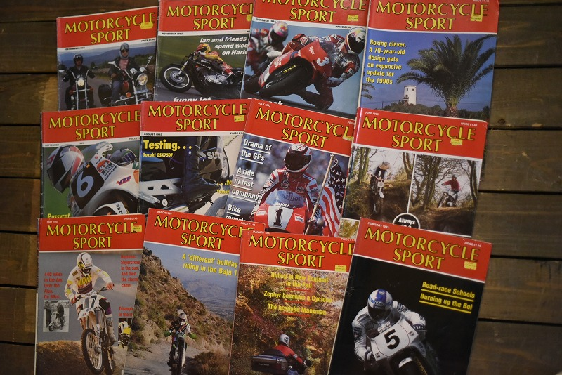 B0860 「MOTORCYCLE SPORT」 モーターサイクルスポート 12冊セット ヴィンテージ モーターサイクル誌 古本 雑誌
