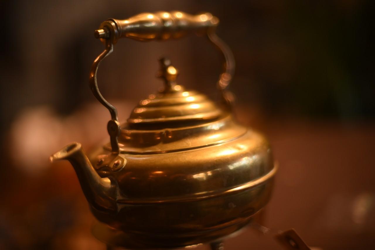 真鍮 ブラス ケトルとスタンド  英国 101642