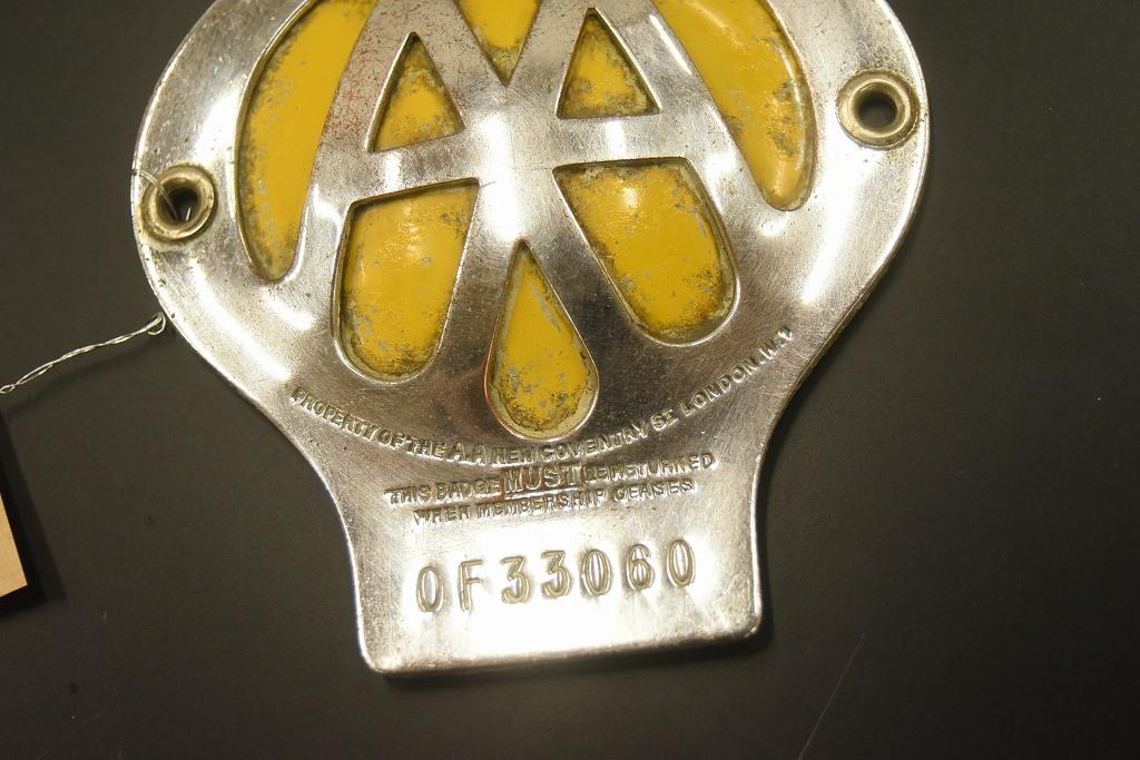 104670 ヴィンテージ AA 「Automobile Association」 カーバッチ エンブレム