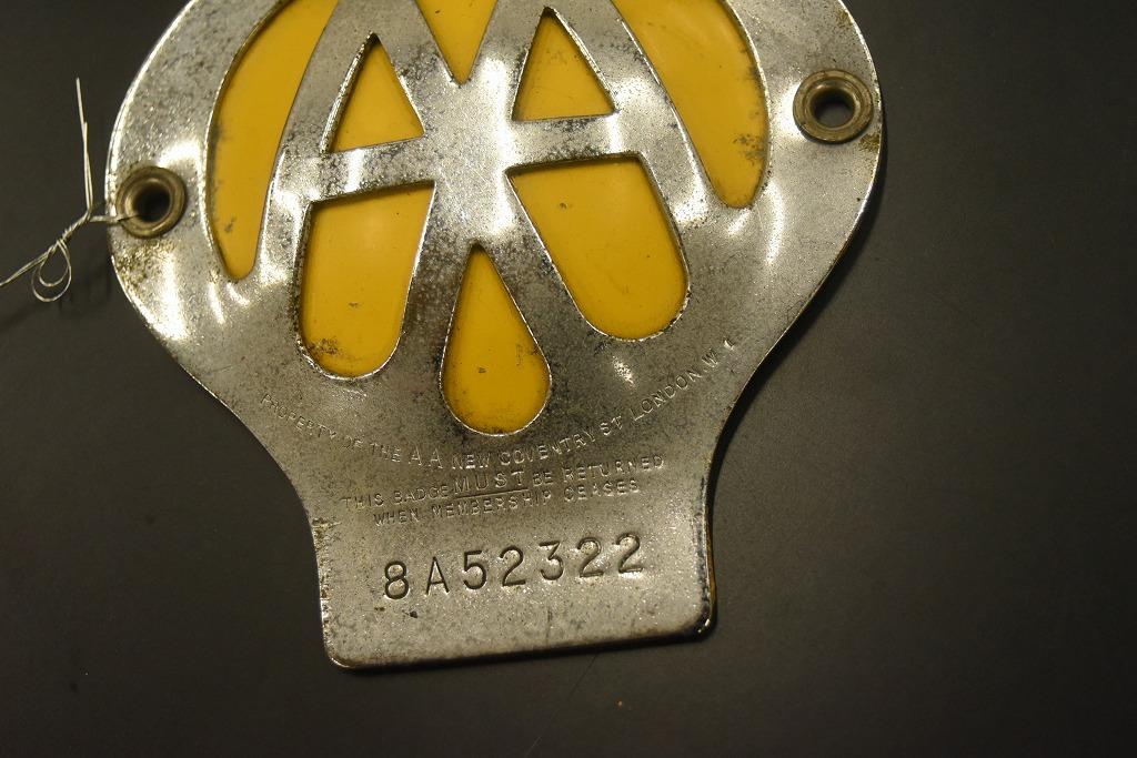 104671 ヴィンテージ AA 「Automobile Association」 カーバッチ エンブレム