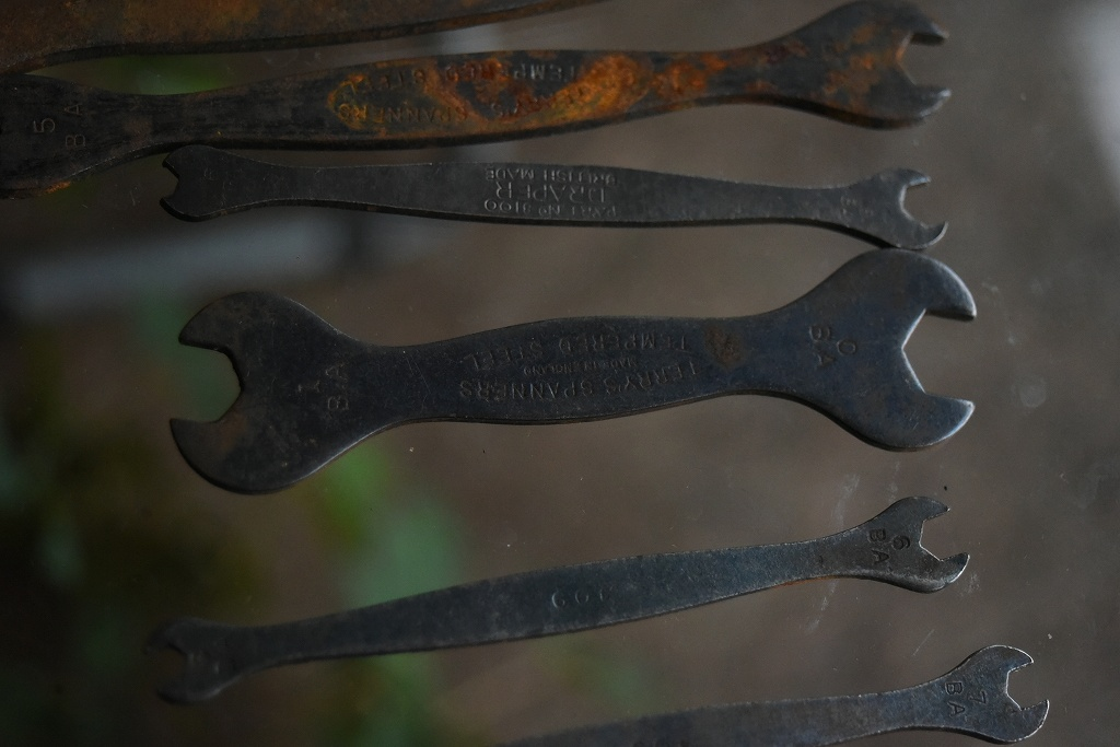 103405 UK ヴィンテージ 「TERRY'S SPANNERS」 他 スパナ ツール 英国