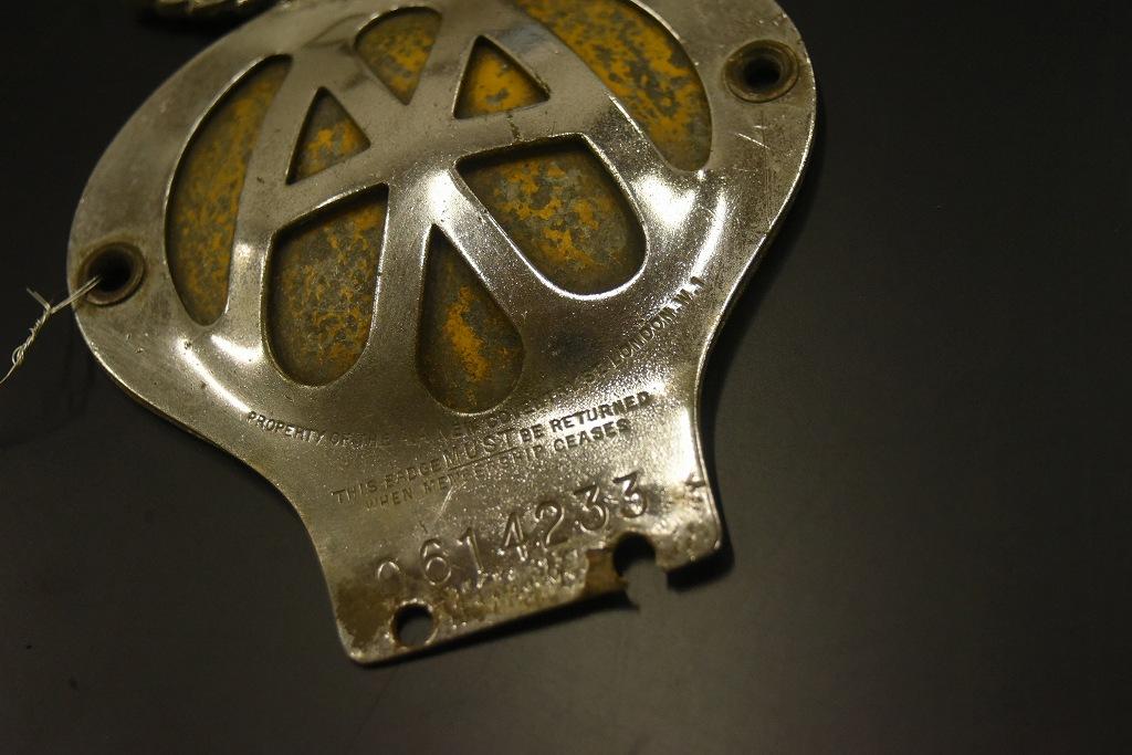 104674 ヴィンテージ AA 「Automobile Association」 カーバッチ エンブレム