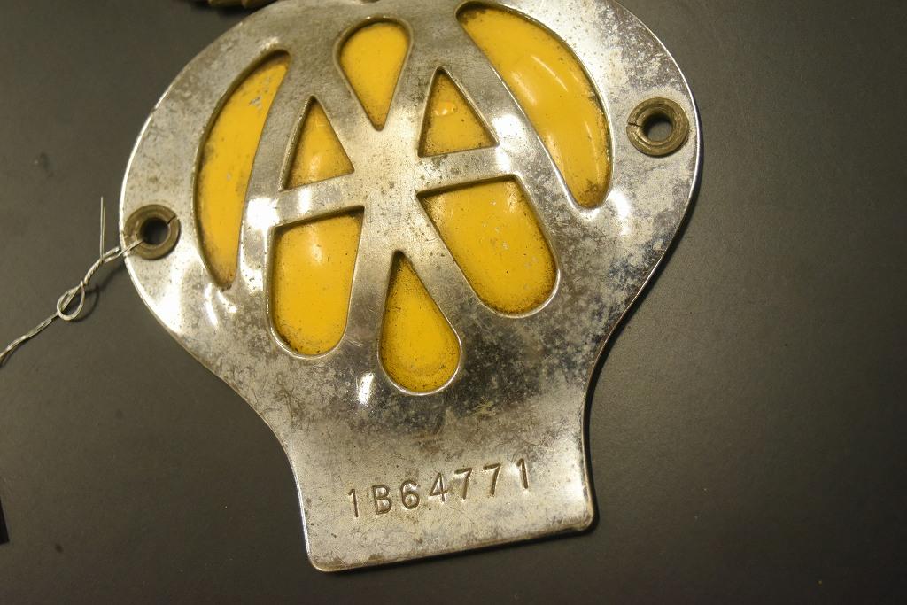 104661 ヴィンテージ AA 「Automobile Association」 カーバッチ エンブレム