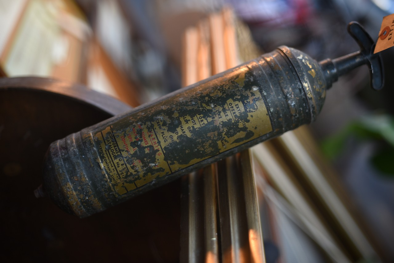 UK 消火器 FIRE EXTINGUISHER 真鍮 ブラス 英国 101109