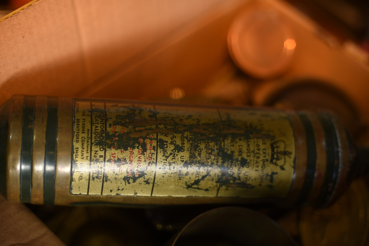 UK 消火器 FIRE EXTINGUISHER 真鍮 ブラス 英国 101112