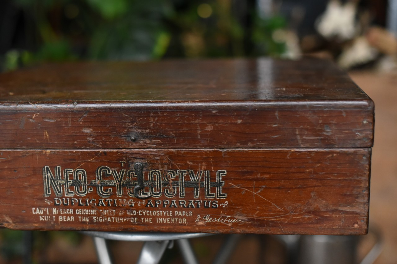 101454 「NEO CYCLOSTYLE」 ヴィンテージ ウッドボックス 木製箱