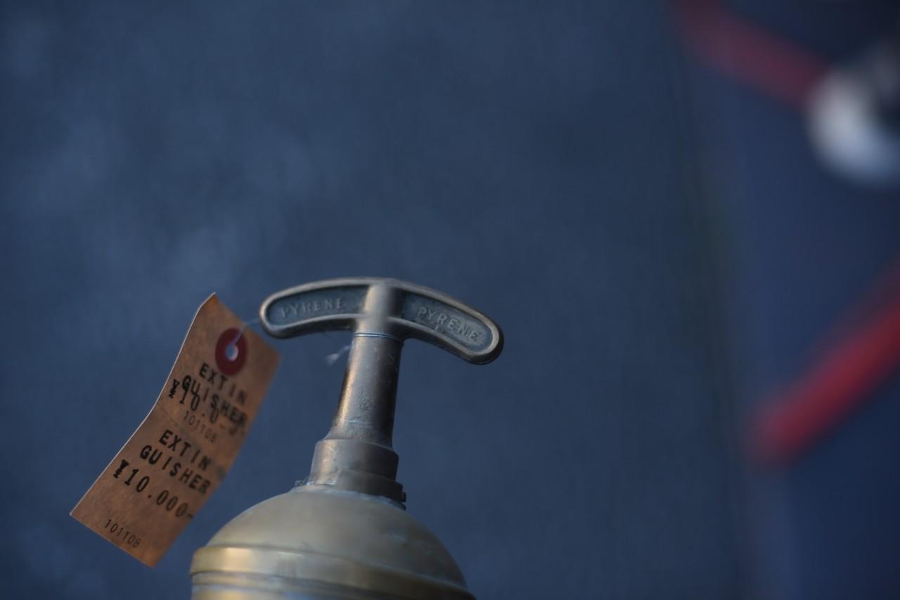 UK 消火器 FIRE EXTINGUISHER 真鍮 ブラス 英国 101108