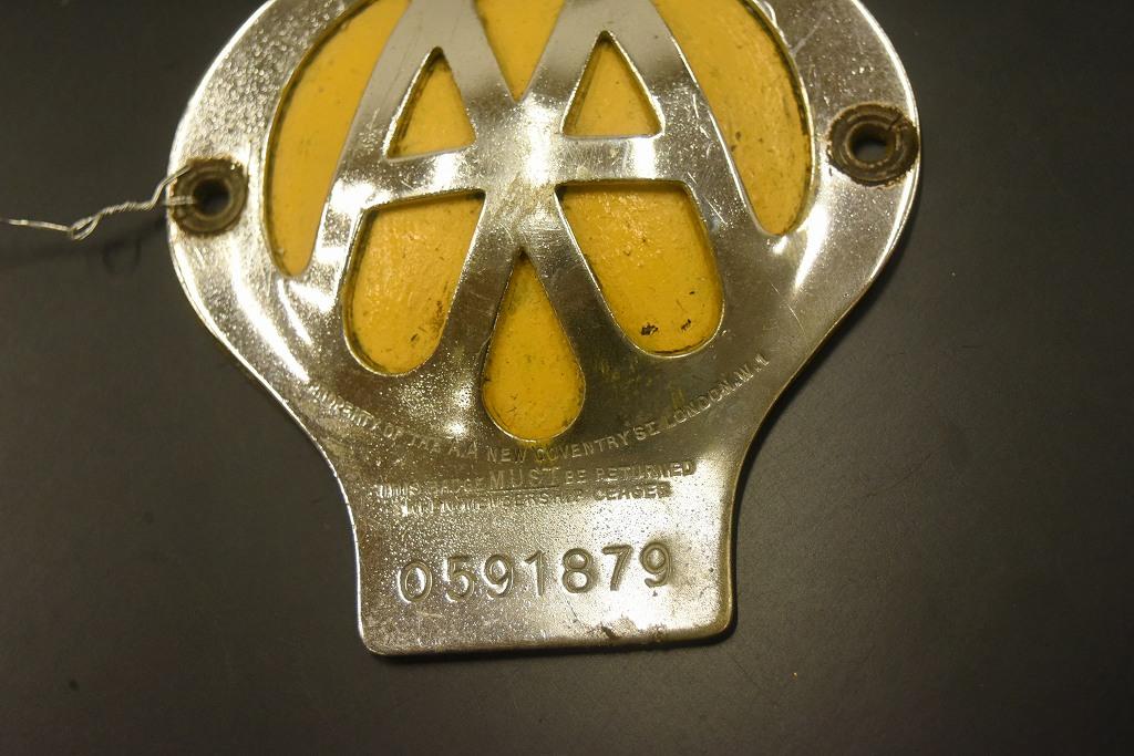 104616 ヴィンテージ AA 「Automobile Association」 カーバッチ エンブレム