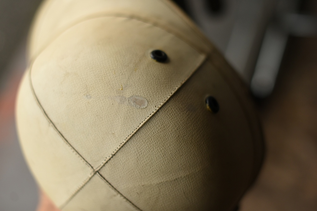 103413 UK 「CORKER」 コーカー ヴィンテージ ヘルメット  Made in ENGLAND