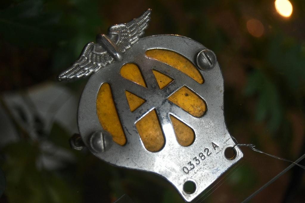 103335 UK ヴィンテージ 二輪用 AA Automobile Association カーバッチ