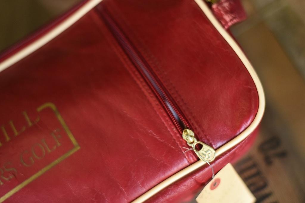 103924 ヴィンテージ 「DUNHILL MASTERS GOLF」 バッグ ケース 革鞄