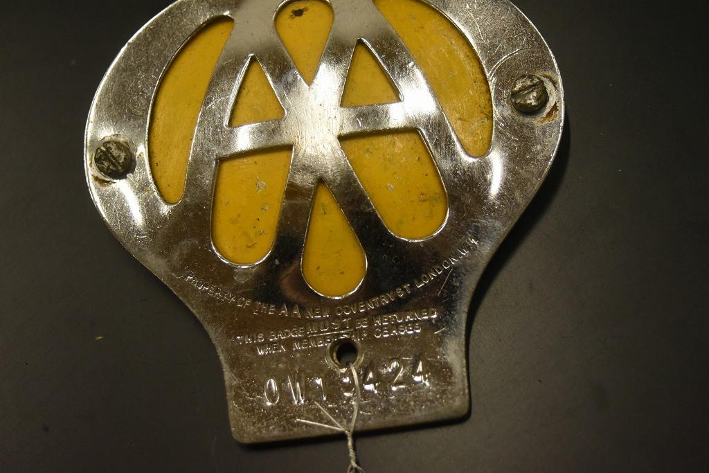 104672 ヴィンテージ AA 「Automobile Association」 カーバッチ エンブレム