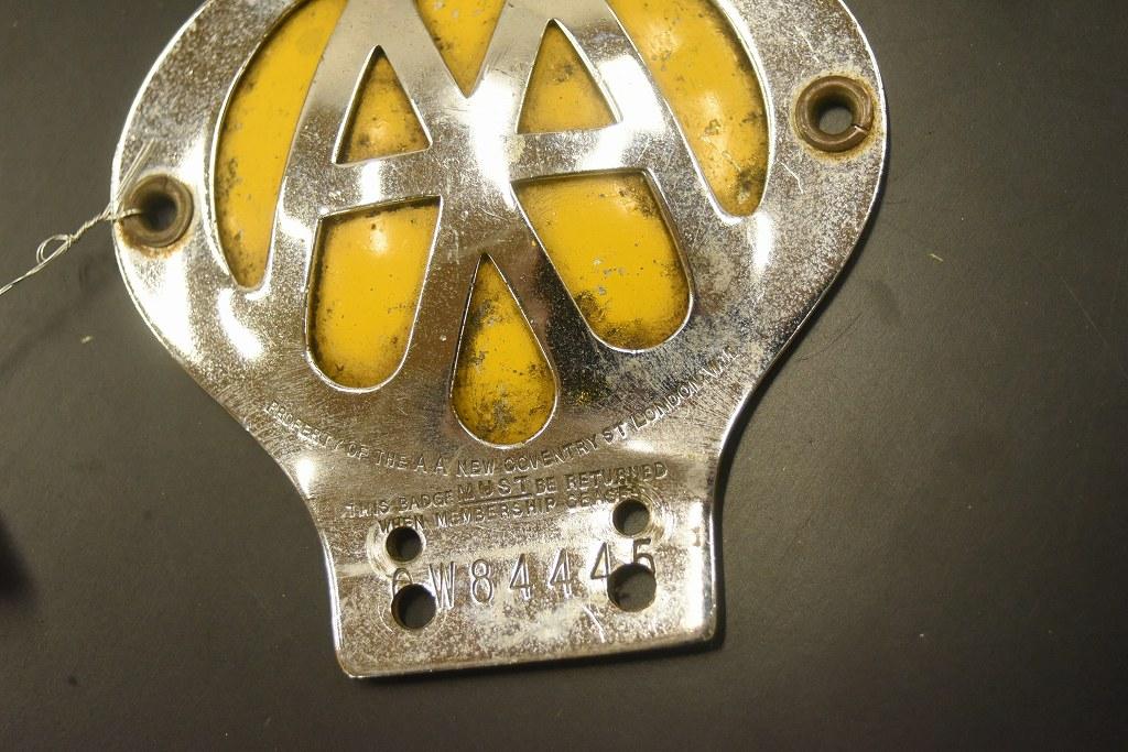 104614 ヴィンテージ AA 「Automobile Association」 カーバッチ エンブレム