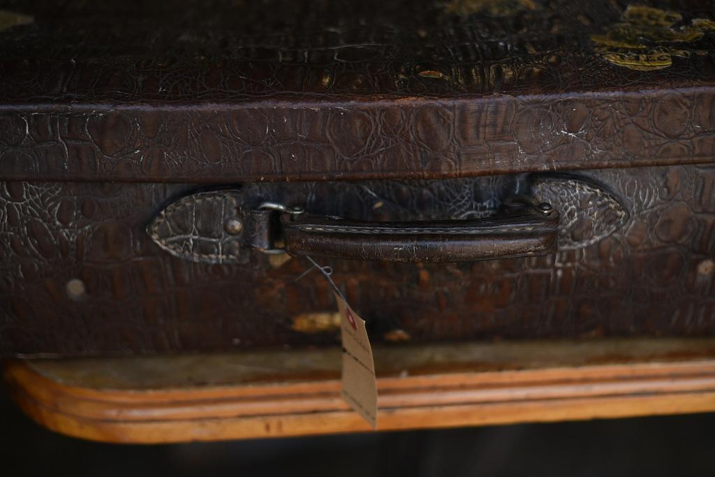 103661 ヴィンテージ レザー トランクケース 皮革製 革鞄 英国製