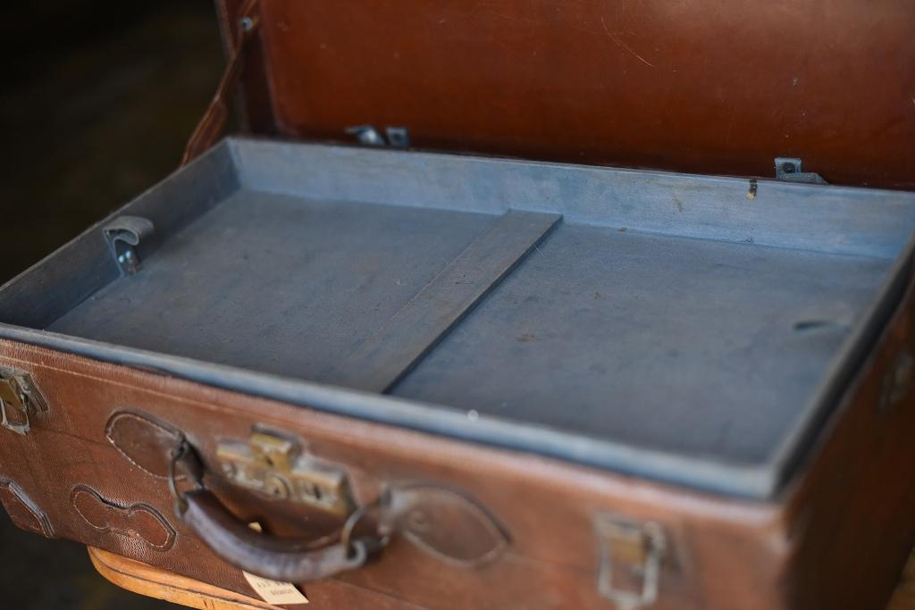 103659 ヴィンテージ レザー トランクケース 革鞄 USA製