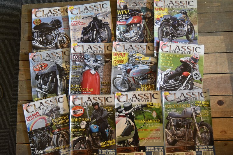 B0880 「CLASSIC BIKE GUIDE」 クラシックバイクガイド 12冊セット ヴィンテージ モーターサイクル誌 古本 雑誌