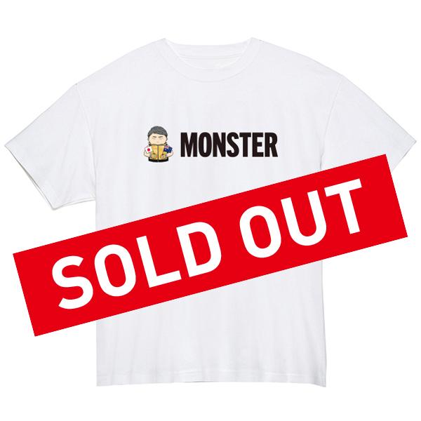MONSTERイラストTシャツ(ホワイト)