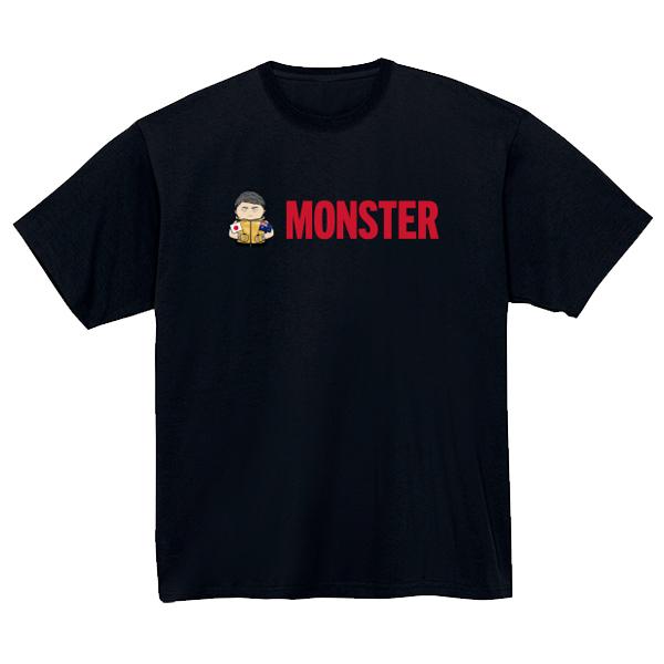 MONSTERイラストTシャツ(ブラック)