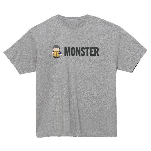 MONSTERイラストTシャツ(グレー)