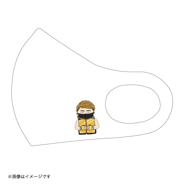 MONSTERイラストマスク(ホワイト)