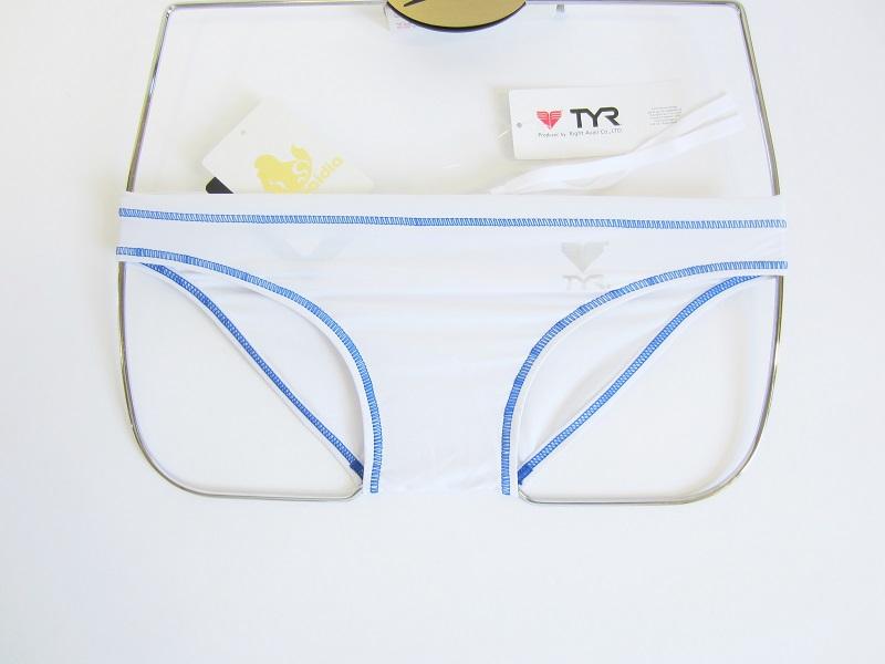 別注 TYR(ティア) スイムショップイノウエ 限定 競パン ホワイト × ブルー 競泳水着