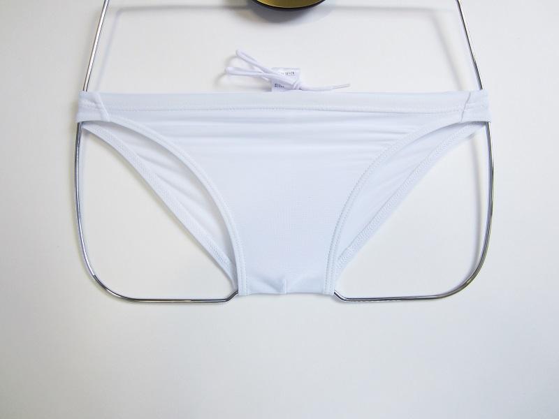完全別注【極パン&#174;きょくぱん】ホワイト ロゴ「なし」<br/>透けやすい生地 競パン