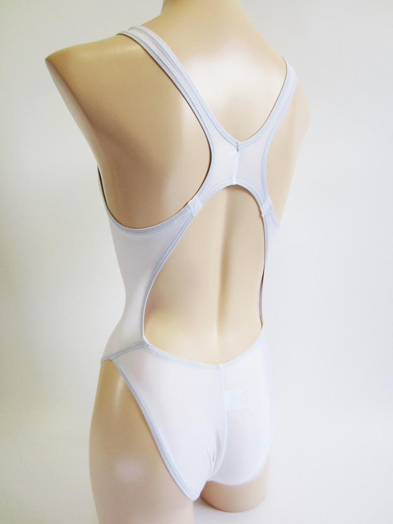 別注asics【ハイドロCD ALS85T】ホワイト 競泳水着    アシックス