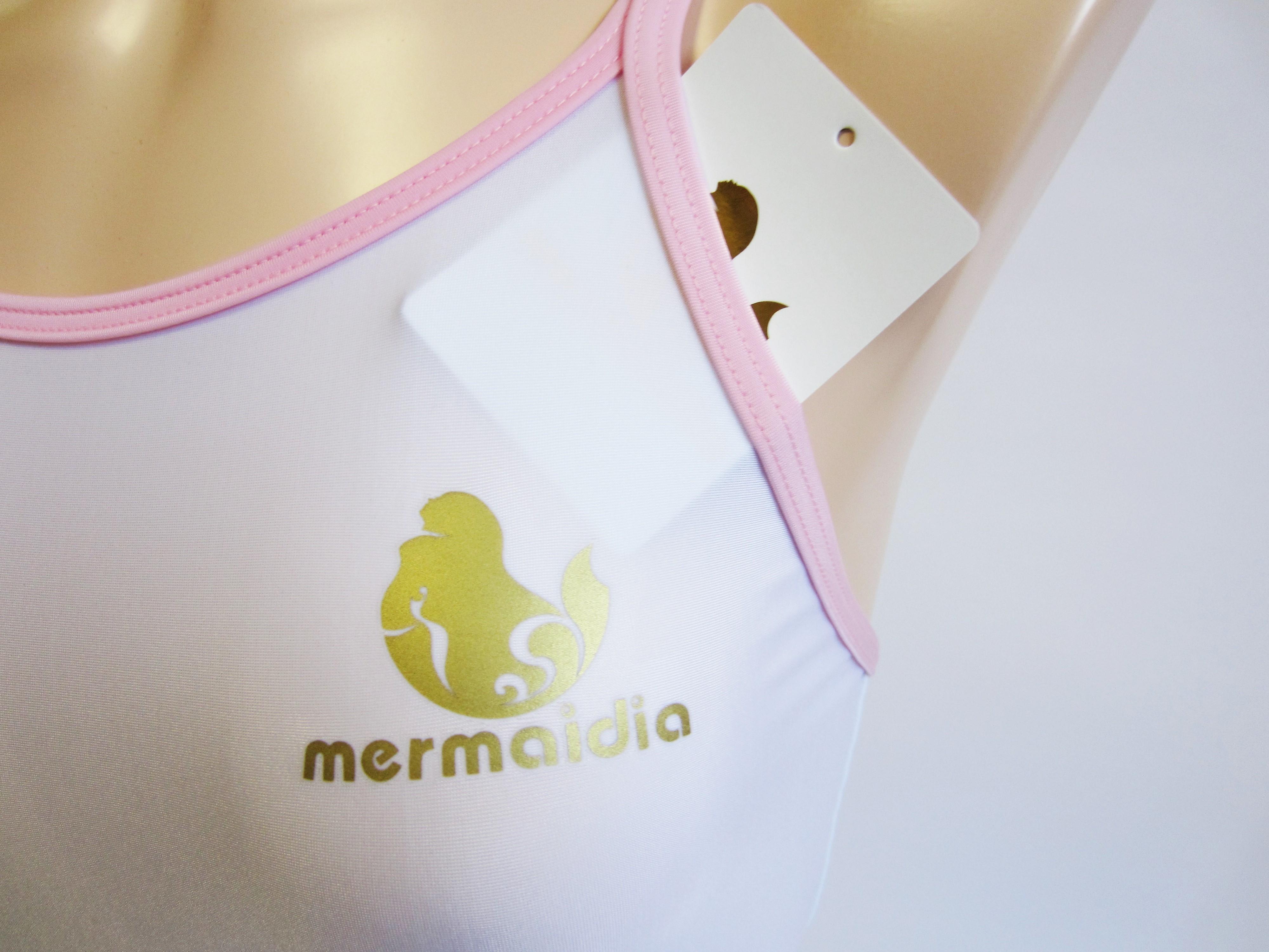 Mermaidia (マーメイディア) スクール水着 ホワイト × アイスピンク スク水