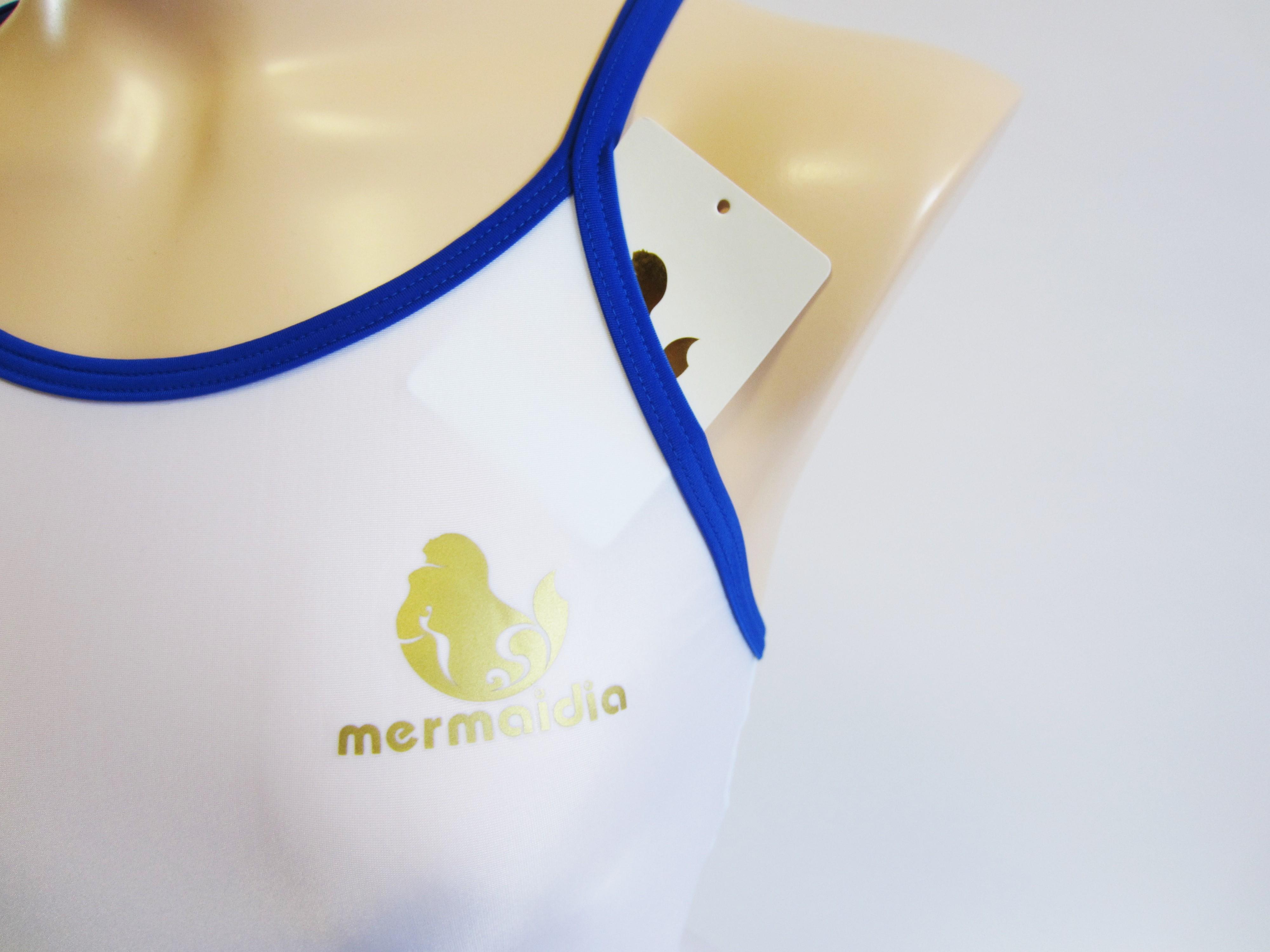 Mermaidia (マーメイディア) スクール水着 ホワイト × ロイヤルブルー スク水