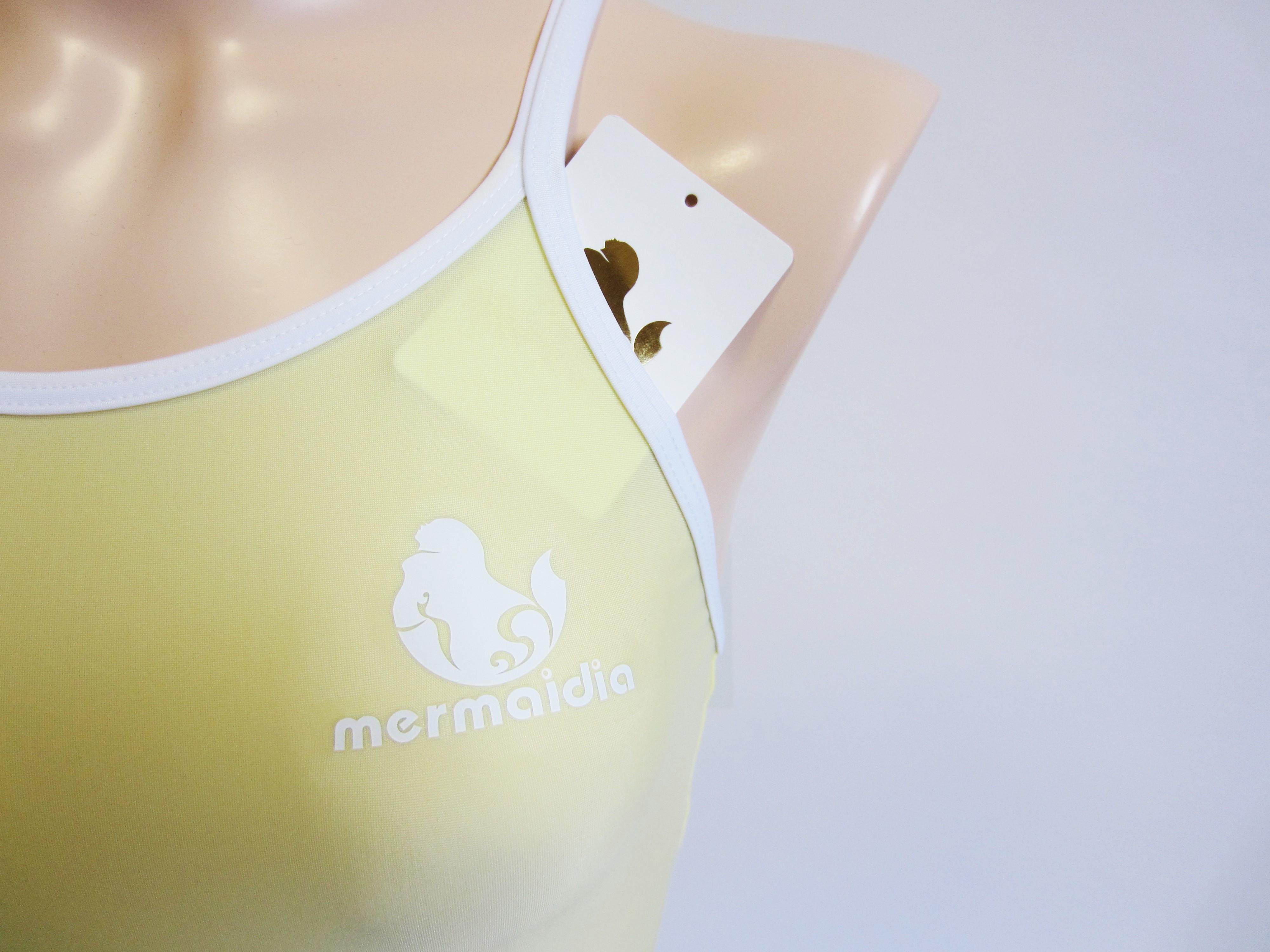 レモンシャーベット×ホワイト Mermaidia(マーメイディア) スクール水着