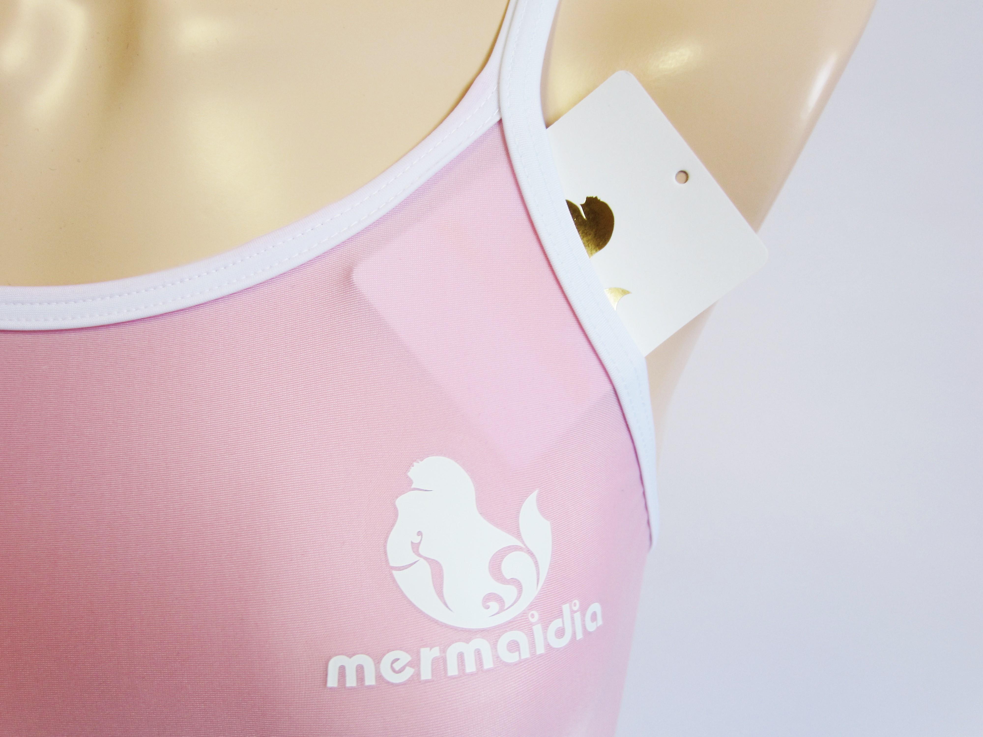 Mermaidia (マーメイディア) スクール水着 アイスピンク × ホワイト  スク水