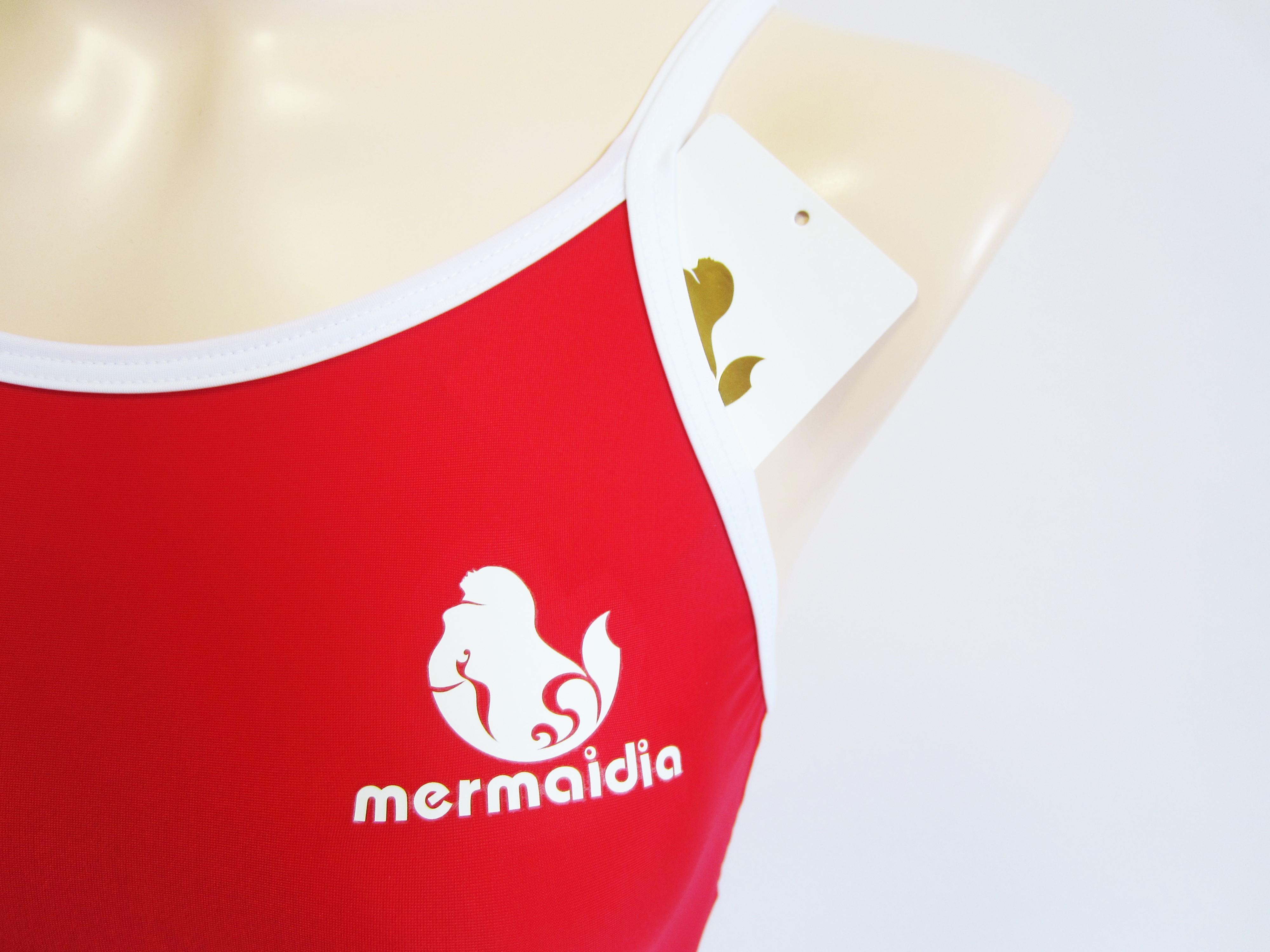 Mermaidia (マーメイディア) スクール水着 チェリー × ホワイト  スク水