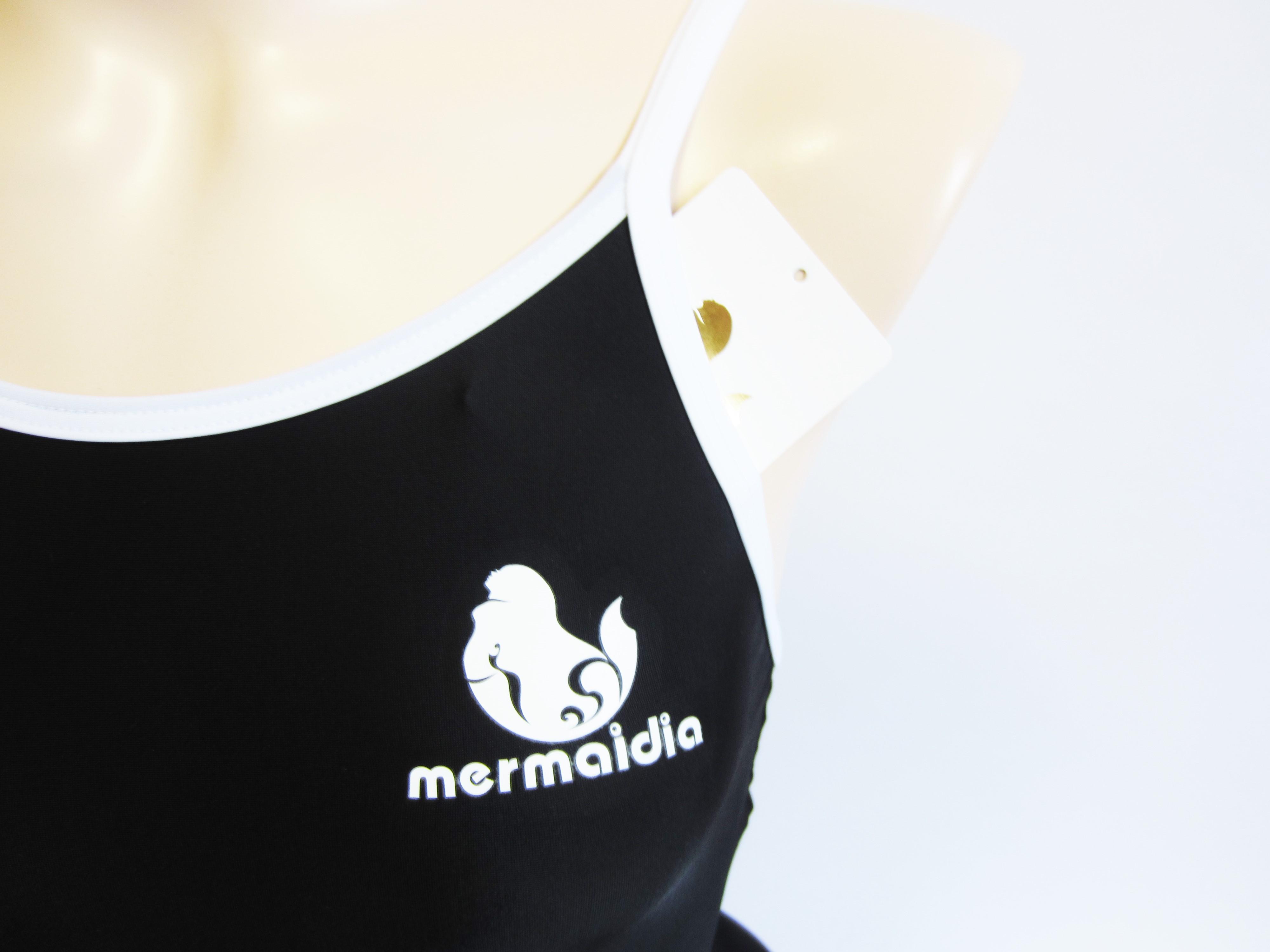 ブラック × ホワイト Mermaidia (マーメイディア) スクール水着