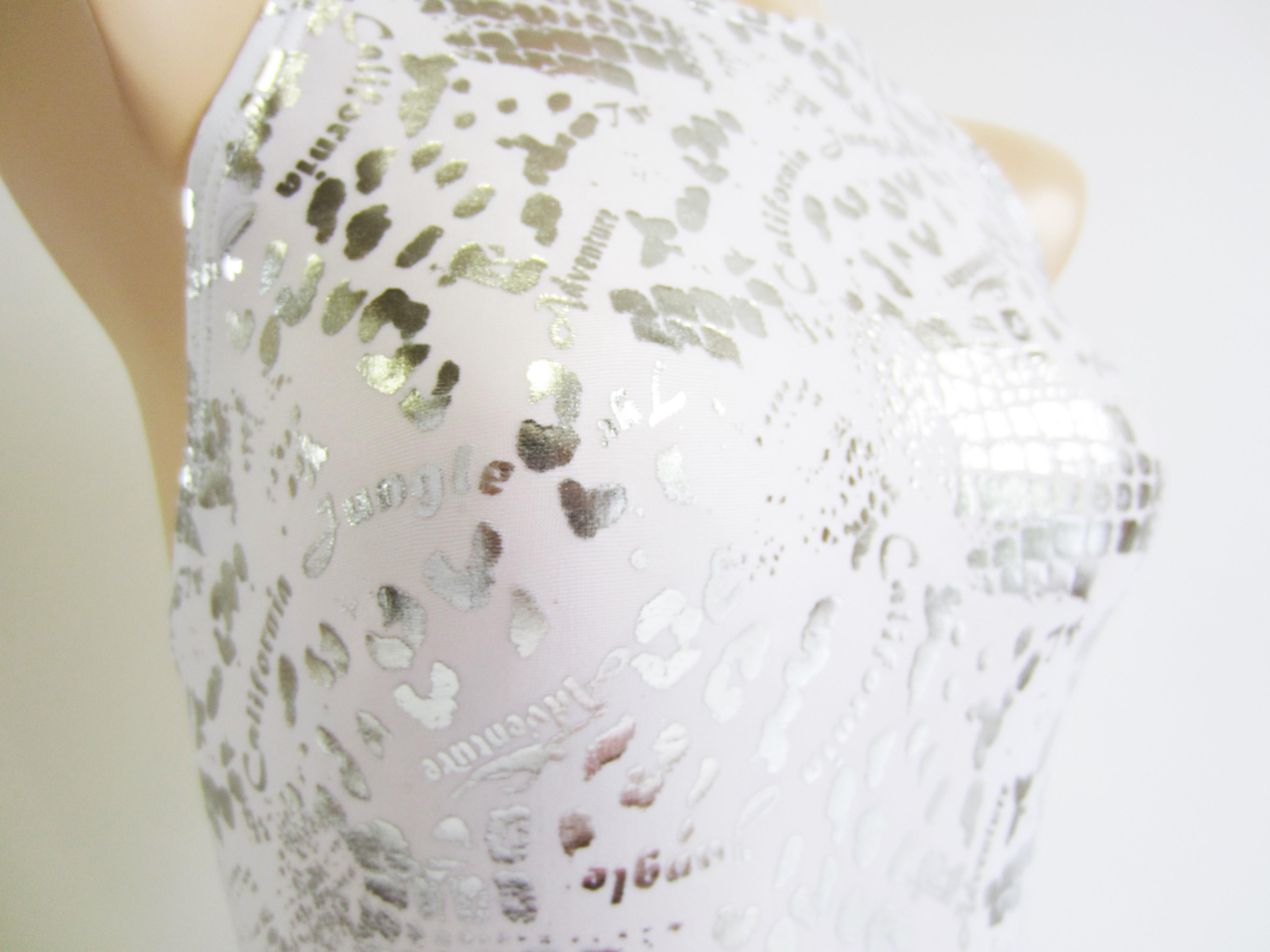 別注 TYR(ティア) ホワイト × シルバー クロコダイル柄 競泳水着 「スイムショプイノウエ限定 モデル」