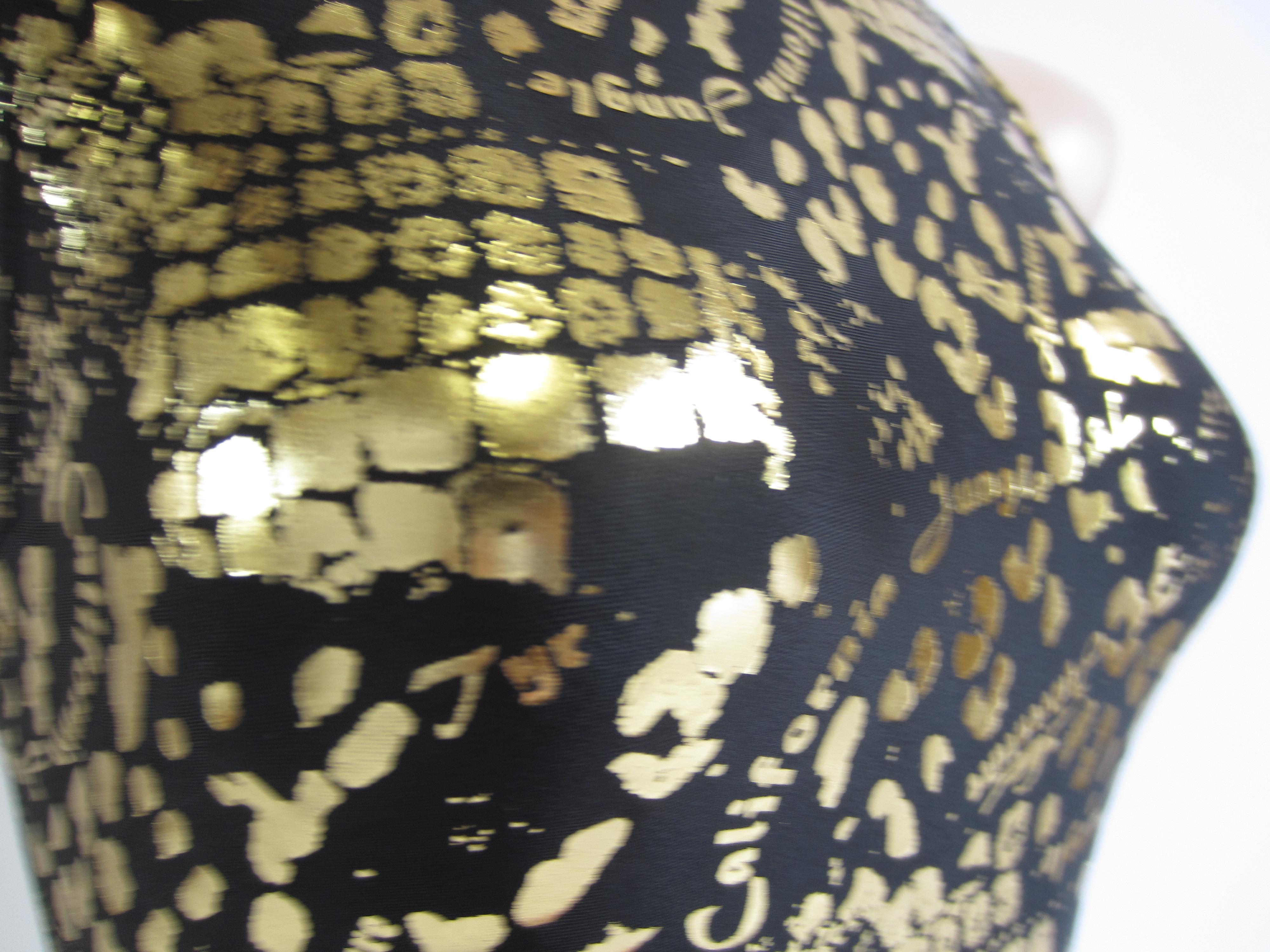 別注 TYR(ティア) ブラック × ゴールド クロコダイル柄 競泳水着 「スイムショプイノウエ限定 モデル」