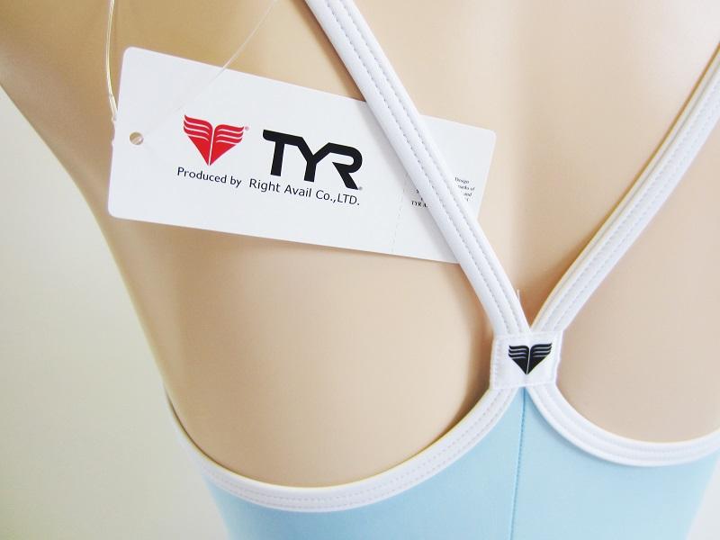 別注 TYR (ティア) スイムショップイノウエ限定    スクール水着(スク水) ベビーブルー × ホワイト