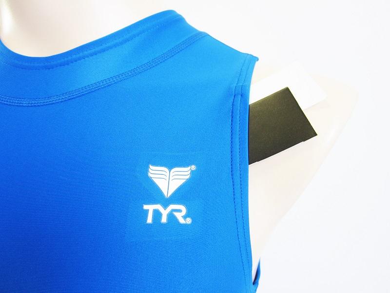 別注 TYR(ティア) スイムショップイノウエ限定 水球水着 ハイネック競泳水着 ブルー