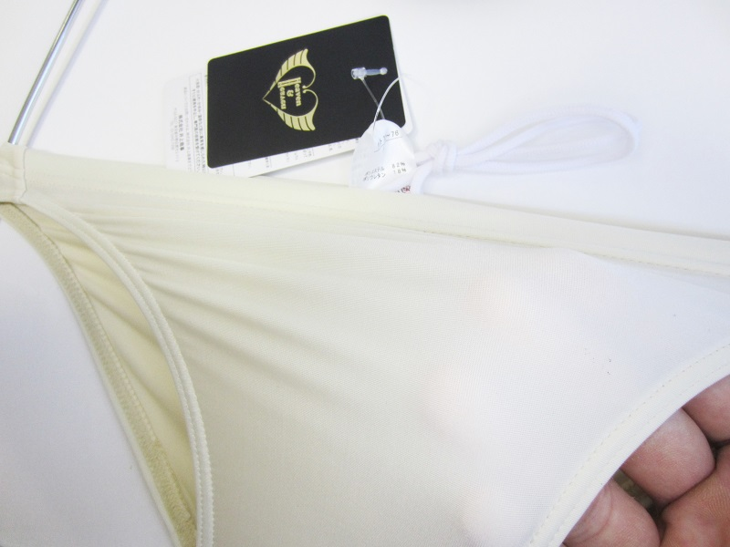 完全別注【極パン®きょくぱん】ミルクティー ロゴ「なし」 透けやすい生地 競パン