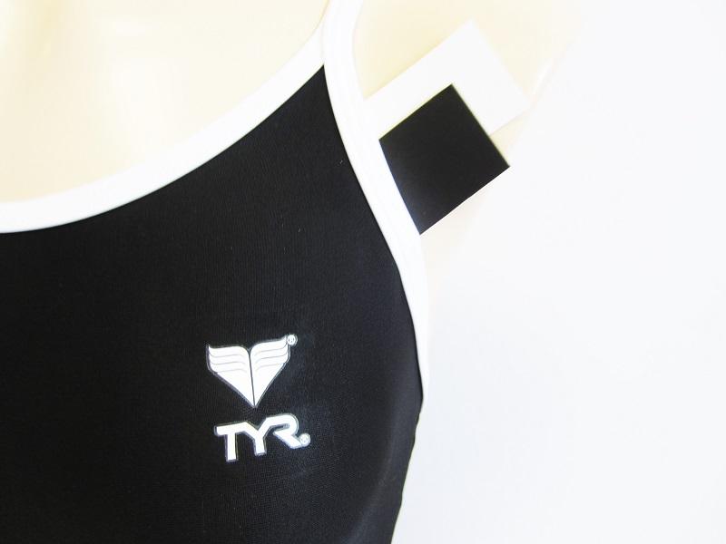 別注 TYR (ティア) スイムショップイノウエ限定    スクール水着(スク水) ブラック × ホワイト