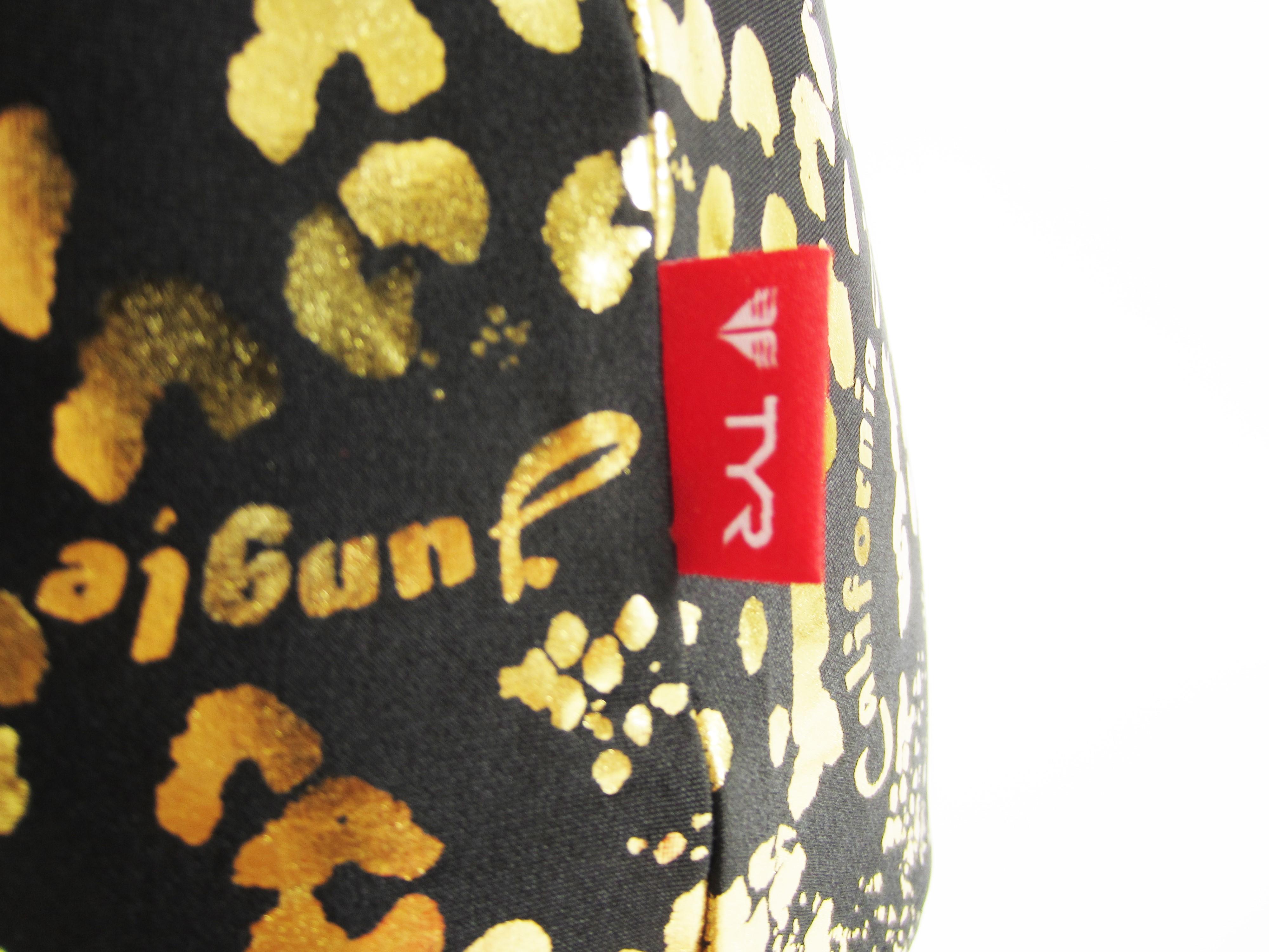 別注 TYR(ティア) ブラック × ゴールド クロコダイル柄 スクール水着(スク水) 「スイムショプイノウエ限定」