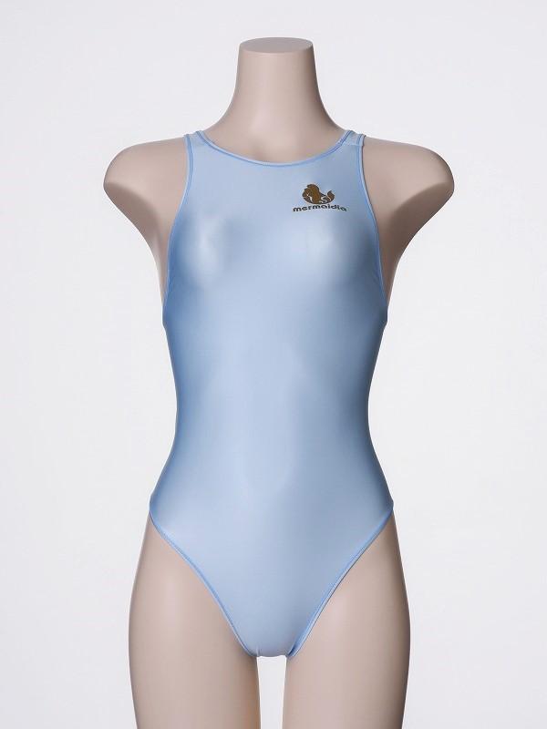 ライトブルー  「 ロゴあり 」 競泳水着 Mermaidia(マーメイディア) + 【 テルタン : terthane 】