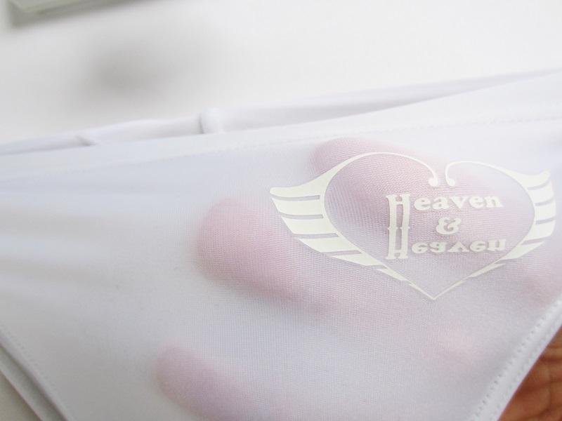 ホワイト ロゴ「あり」 【極パン:きょくぱん】 透けやすい生地 競パン