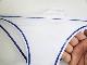 完全別注【極パン®きょくぱん】 ホワイト ステッチブルー ロゴ「なし」 透けにくい生地 競パン