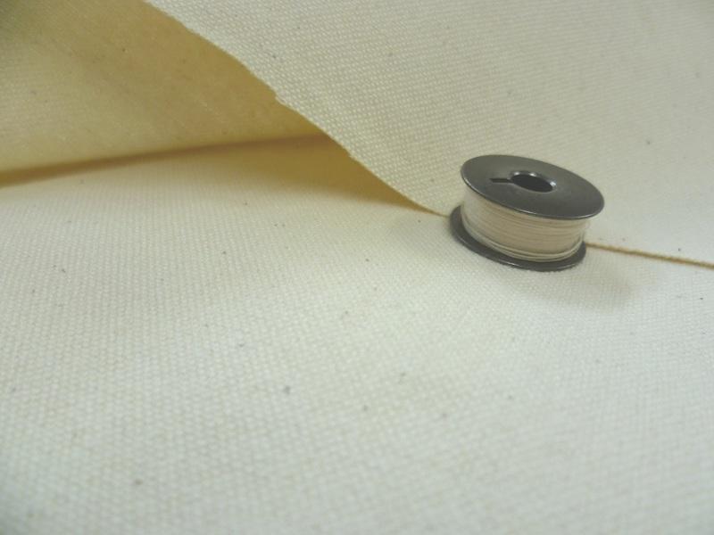 綿11号帆布キバタ(きなり) 215cm巾1Mの価格です