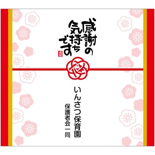 のし紙印刷02(感謝の気持ちです)