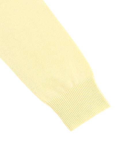 【旧サイズ】大人も毛玉になりにくい!さがら刺繍てんとう虫ちゃんニット オフホワイト