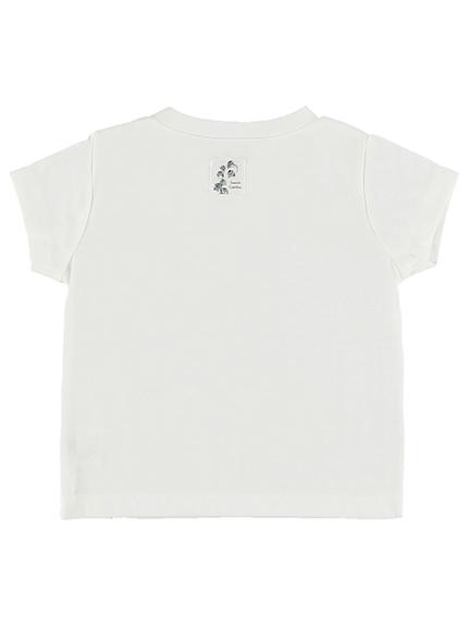 KODOMO Nombre プリント100%再生ペットボトルTシャツ クワガタ8 blanc